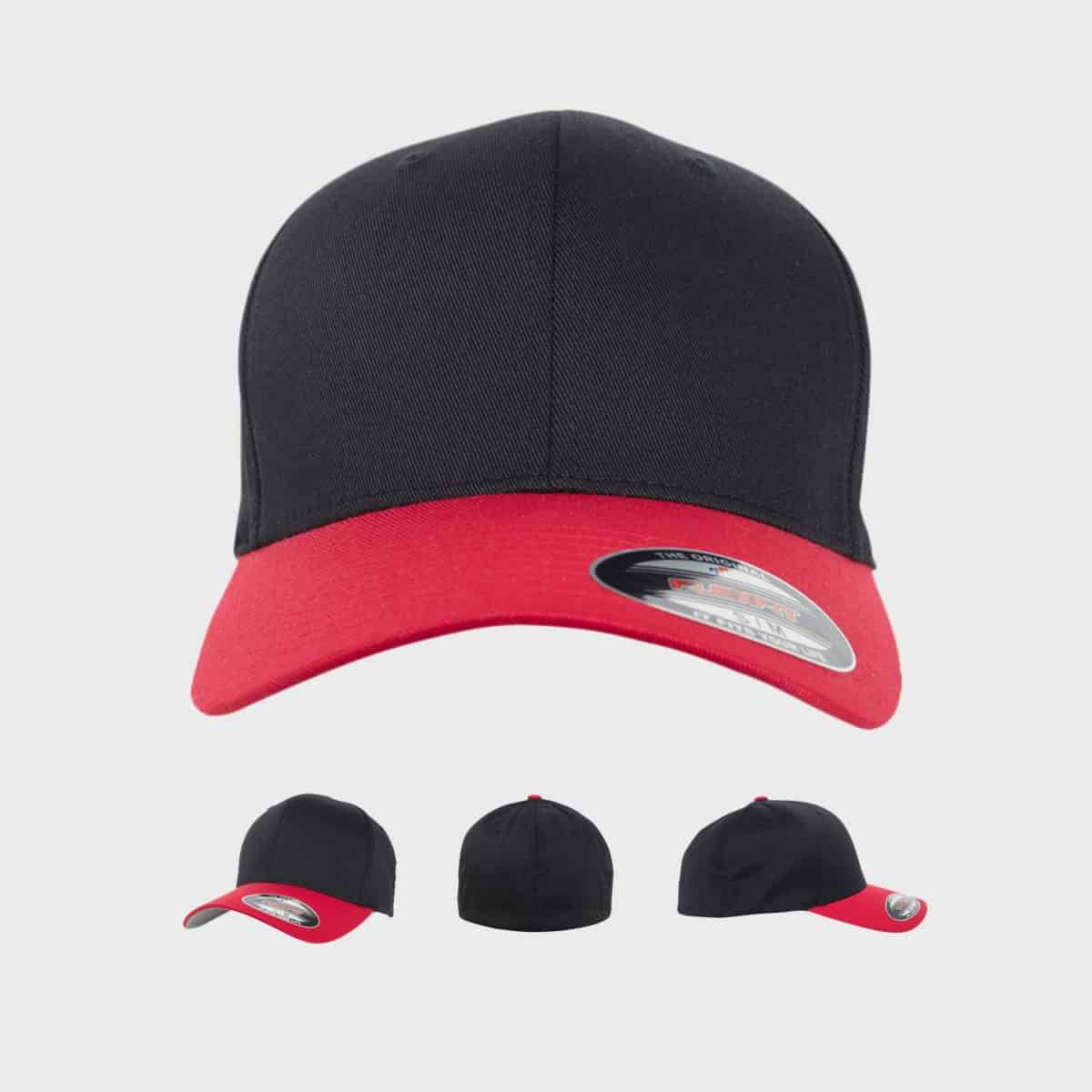 Flexfit YupoongFlexfit FFE 6089RC Black Red Front Extra