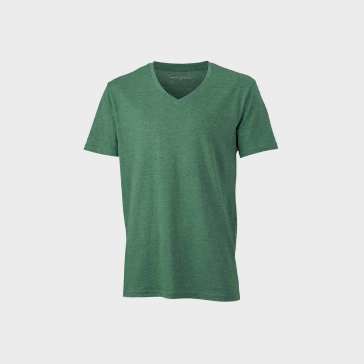 Daiber T Shirts JN974 Greenmelange Front