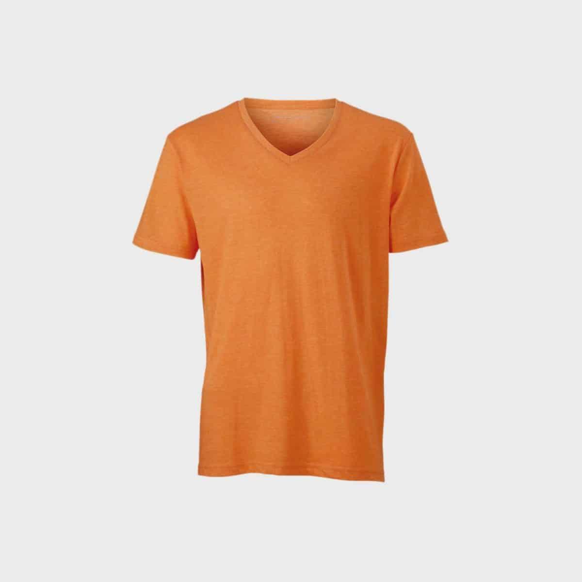 Daiber T Shirts JN974 Orangemelange Front