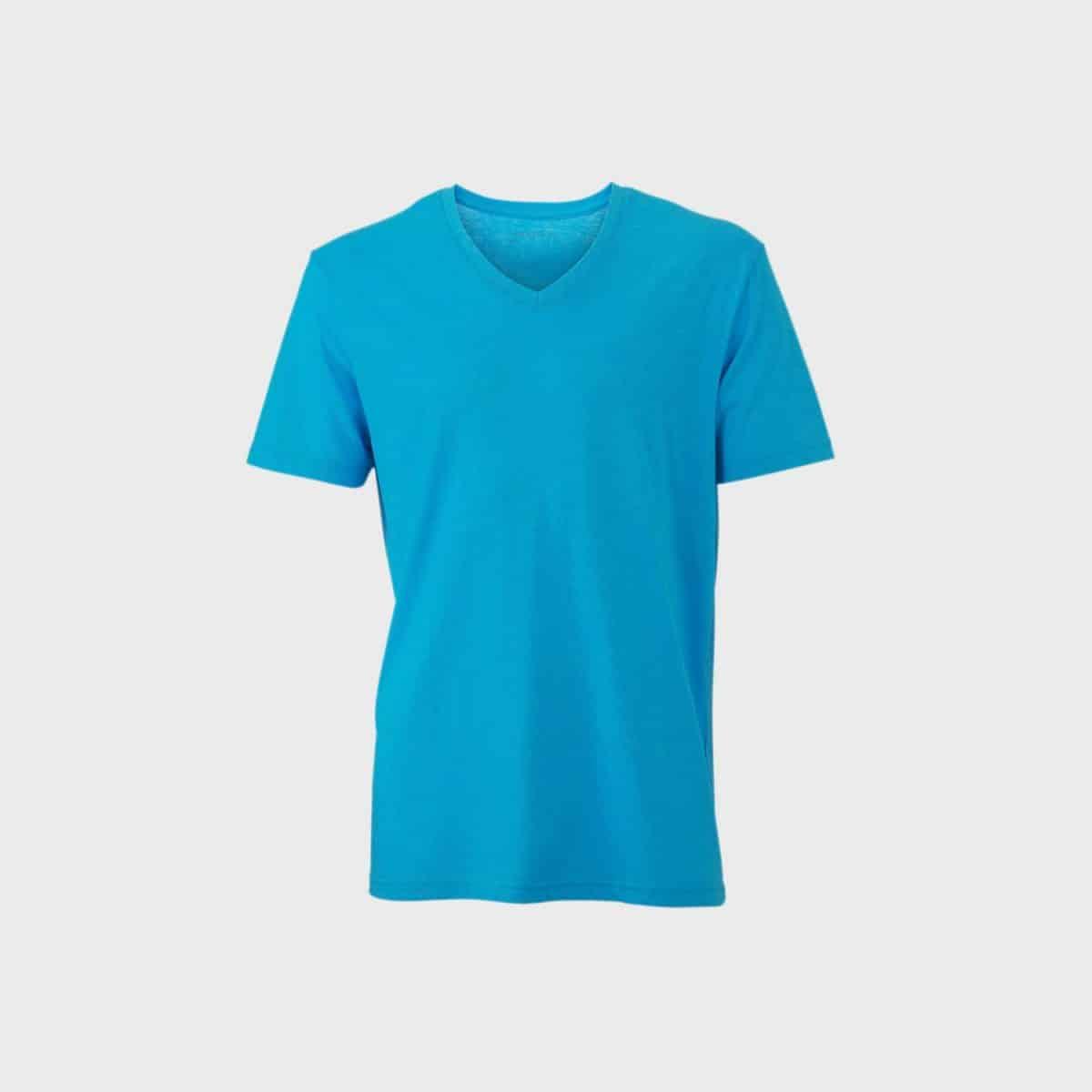 Daiber T Shirts JN974 Turquoisemelange Front