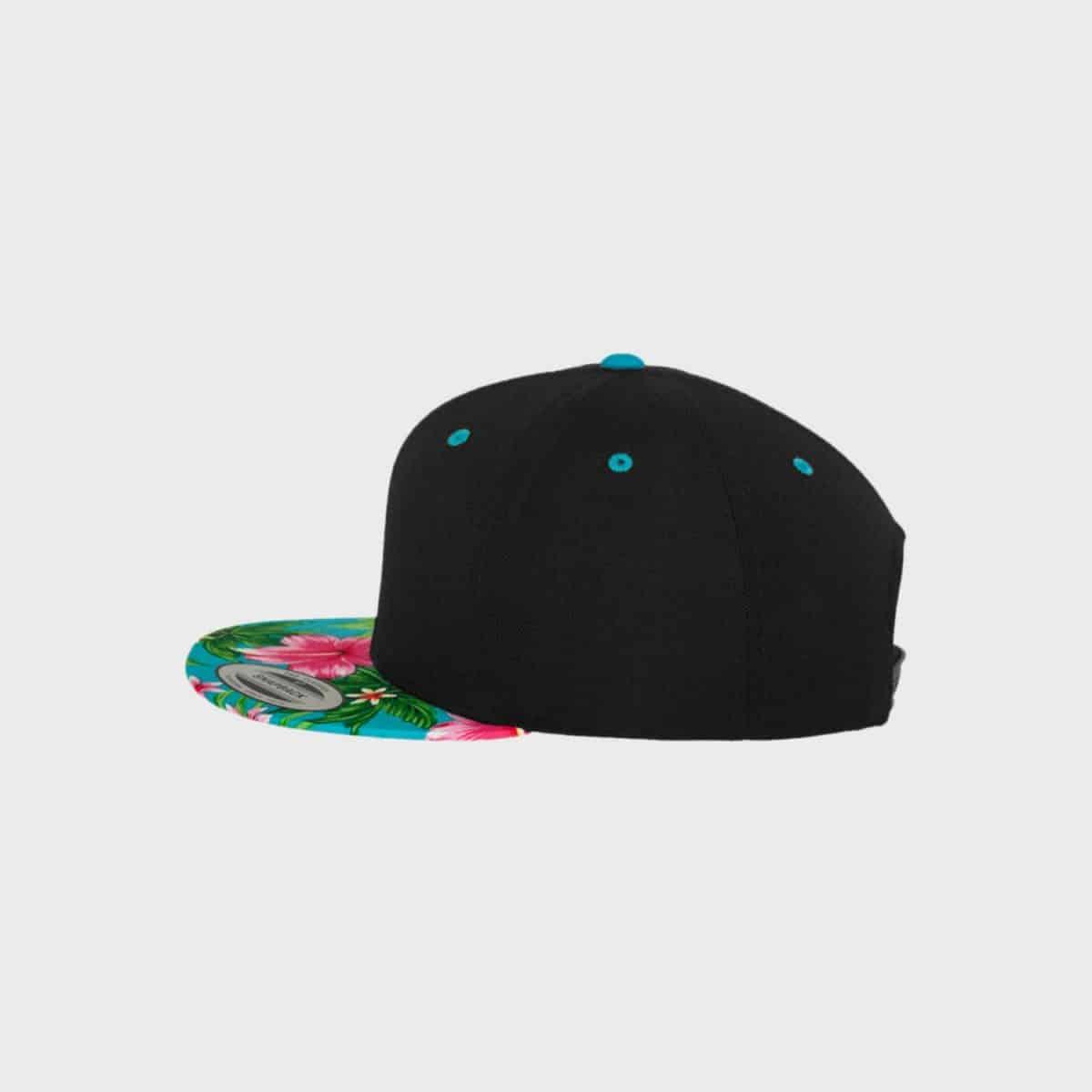 Flexfit Snapback FFE 6089HW Black Aqua Side