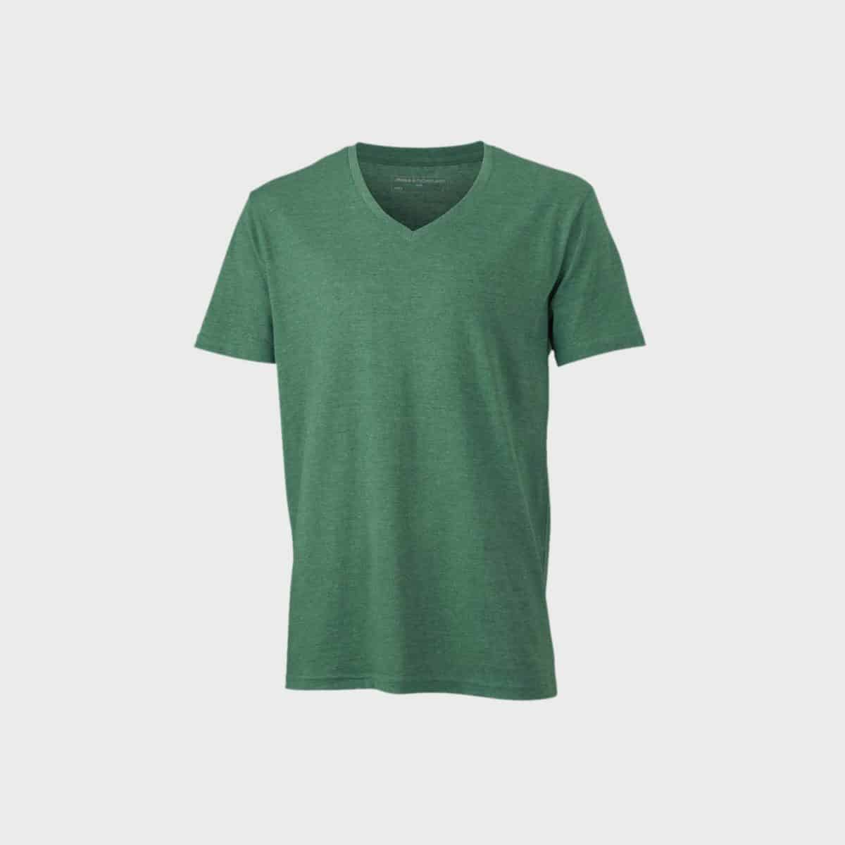 v-neck-heather-t-shirt-herren-greenmelange-kaufen-besticken_stickmanufaktur