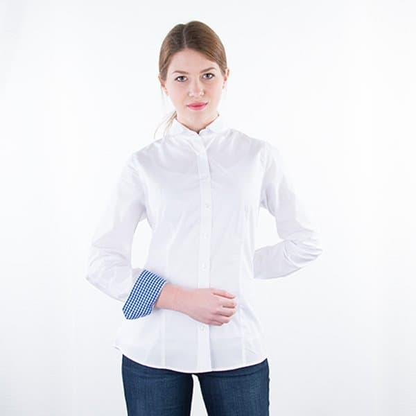 JAMES & NICHOLSON Damen Bluse Plain Model Detail