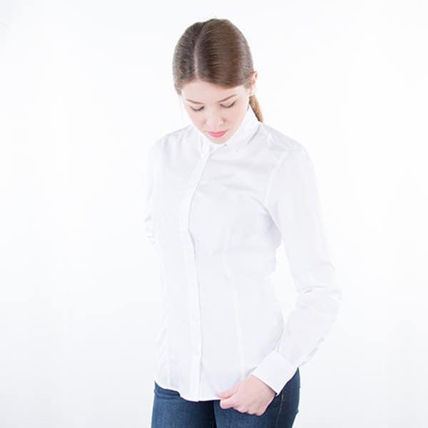JAMES & NICHOLSON Damen Bluse Plain Model front