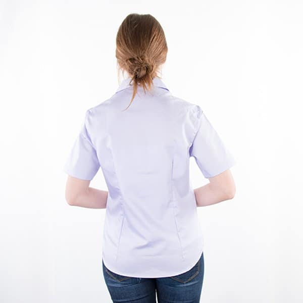 JAMES & NICHOLSON Damen Bluse Kurzärmlig Model back