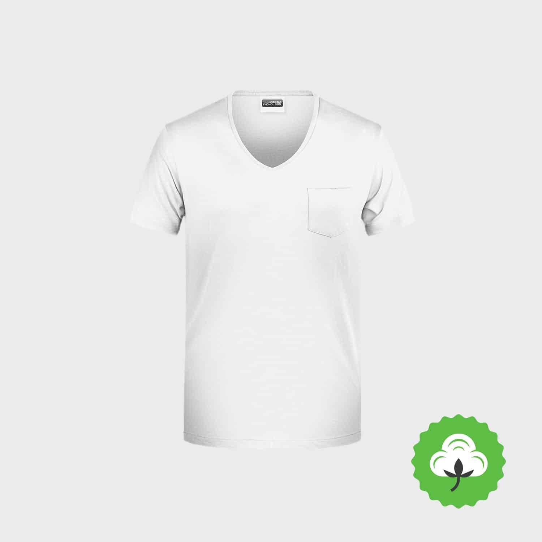 Bio T-Shirt mit Tasche besticken lassen