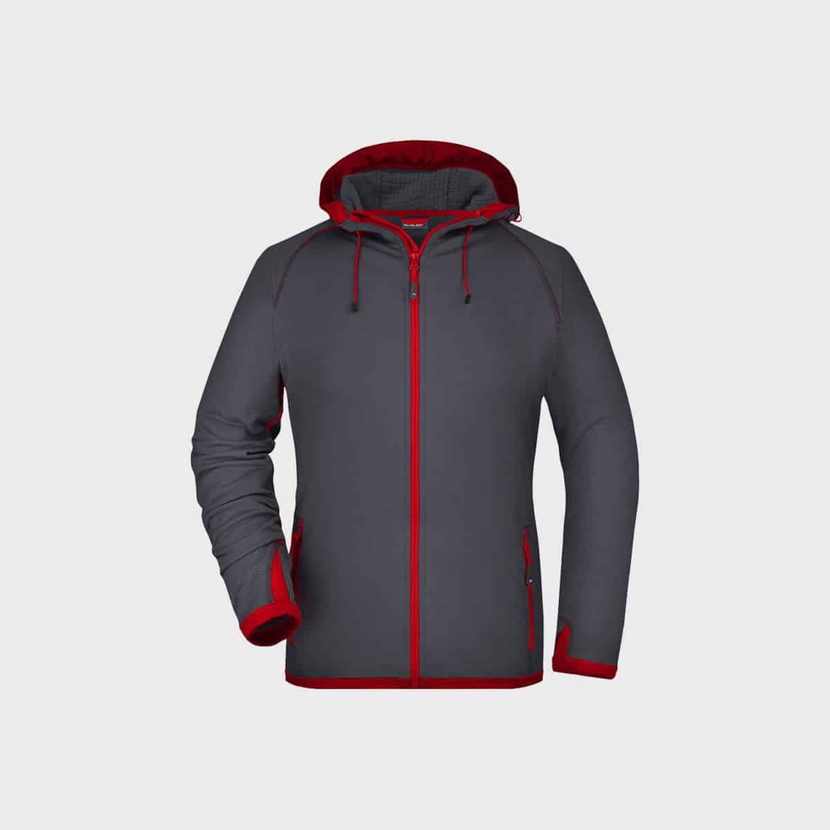 hooded-fleece-jacket-damen-carbon-red-kaufen-besticken_stickmanufaktur